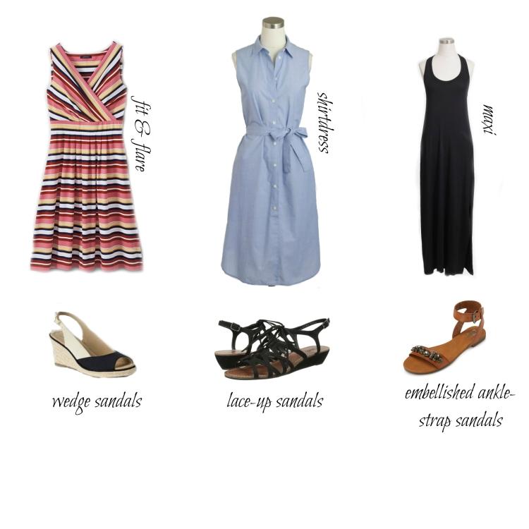 dresses&sandals