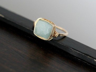 aquamarine ring | saressa designs